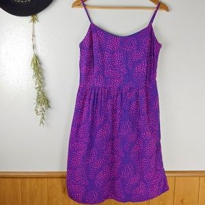 GAP Navy Blue Pink Speckle Dress with Pockets!